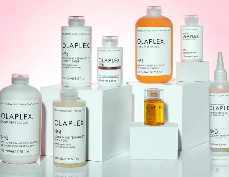 Olaplex produkter som lagar skadat hår